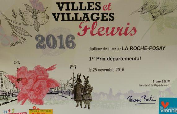 1er Prix départemental du fleurissement pour notre commune